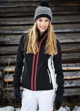 Женская чорная лыжная сноубордическая горнолыжная термо куртка мембрана 10000/10000 (10к)