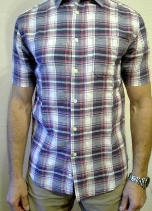 Рубашка tu premium linen blend размер м лен+хлопок