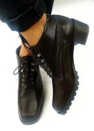 Studio pollini крутые стильные винтажные ботинки от, на широком каблуке, на шнуровке