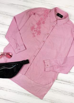 Рубашка оверсайз с вышивкой ax paris