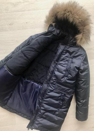 Тёплое зимнее пальто для парня на тинсулейте