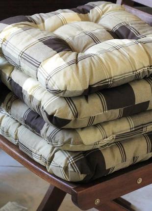 Мягкие подушки-сидушки для стульев, клетка 40x40x8см
