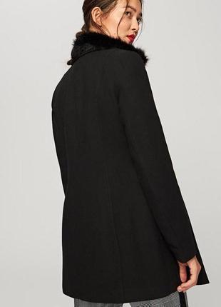 Женское демисезонное полушерстяное полу пальто h&m р. 44 (38)