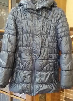 Детская теплая перламутровая стеганная куртка