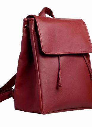 Большой женский рюкзак бордовый для учебы, города, спортзала