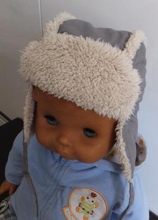 Зимняя шапка ушанка next на 1-2 года размер 86 - 92