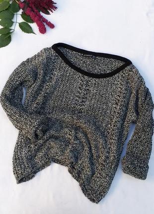 Красивый свитер вязаная кофта крупная вязка от atmosphere