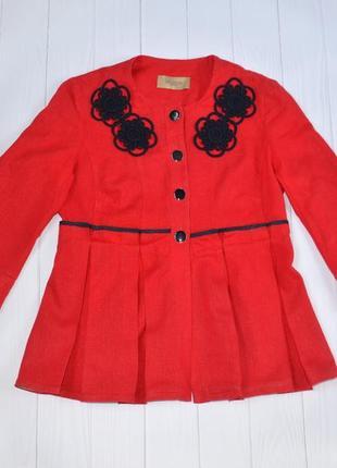 Нарядный льняной пиджак, жакет dolcedonna, размер eu 36, укр 42