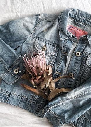 Джинсовая короткая курточка от new look