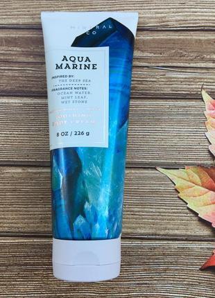 Увлажняющий крем для тела bath and body works - aquamarine (сша)