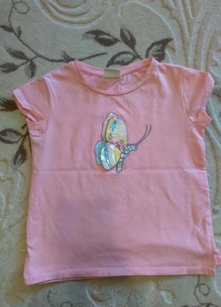 Красивая детская футболка на девочку 4-5лет от зара zara