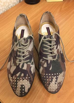 Туфли милитари брендовые на платформе