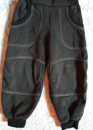 Утеплённые осенне-весенние штаны на флисе
