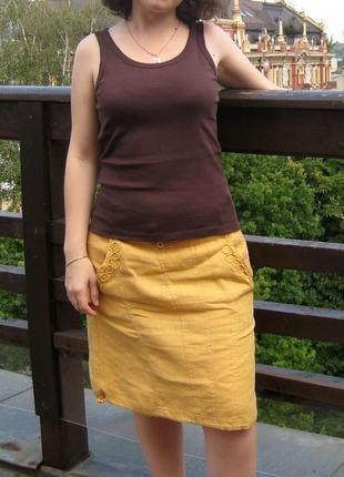 Льняная юбка assol, размер 38