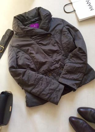 Тёплая осенняя куртка на синтепоне цвета мокрого асфальта