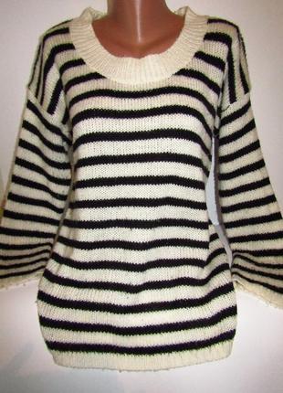 Шикарный теплый свитер в полоску размер xxl в идеале бренд m.vie 90 грн.