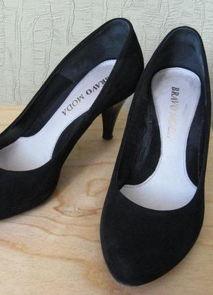 Туфли замшевые bravo moda, р. 38