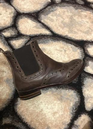 Кожаные ботинки, осенние ботиночки