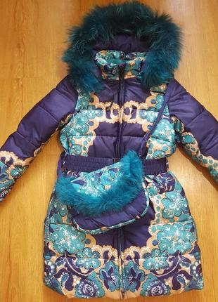 Зимние пальто  bilemi   и набор шапка и хомут