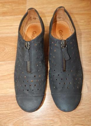 Туфли-мокасины gabor. натуральный нубук.