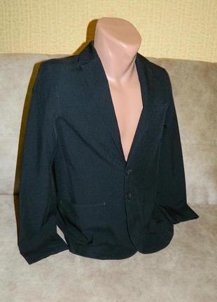 Пиджак черный школьный классический на мальчика подростка 12-13 лет george.