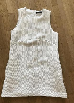 Белоснежное платье zara