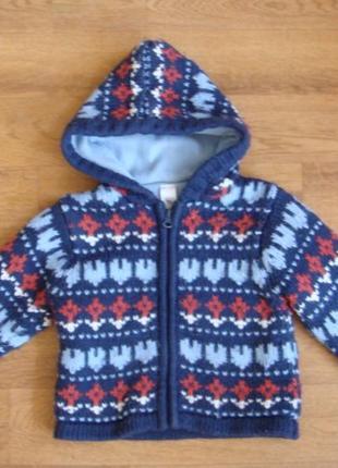 Baby club теплющая кофта куртка на флисе 86 см мальчику