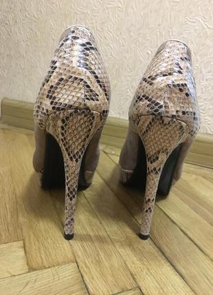 Шикарные кожаные туфельки на шпильке замш кожа питона итальянские туфли туфельки