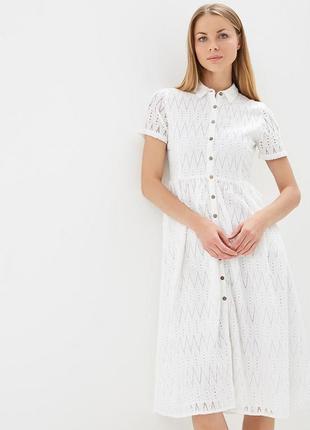 Mango платье белое миди, м