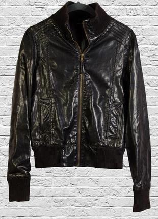 Кожаная куртка, курточка короткая коссуха,