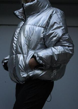 Куртка металик h&m