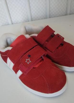 Кожаные замшевые кеды кроссовки некст 16 см.