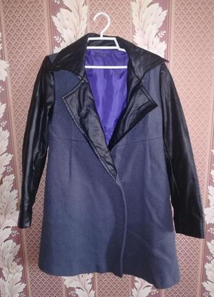 Стильное пальто для девочки 11-12 лет