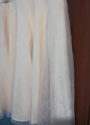 Шикарное коктейльное платье с юбкой из фатина4 фото