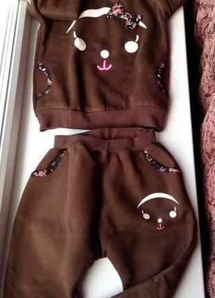 Тёплый спортивный костюм пижама флис 6-9 лет в наличии