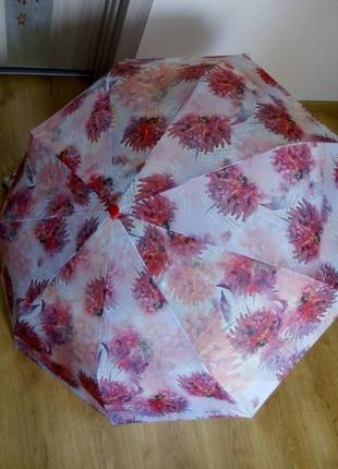 Женский зонт. автомат в три сложения. жіноча парасоля автомат