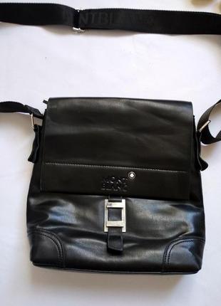 Фирменная сумка почтальон mont blanc оригинал