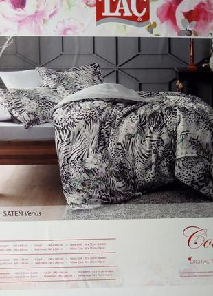 Комплект постельного белья тас,эвро комплект,постельное белье tac digital saten venus евро