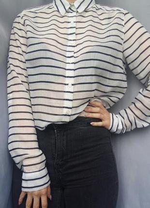 Сорочка stradivarius рубашка блуза в полоску