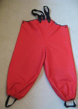 Непромокаемые дождевые штаны для луж полукомбинезон lindex швеция 98р