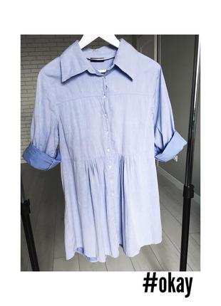 Платье - рубашка / голуба сукня плаття сорочка