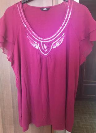 Яркая блуза от m&s 22-24 размера