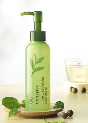 Гидрофильное масло innisfree green tea balancing cleansing oil