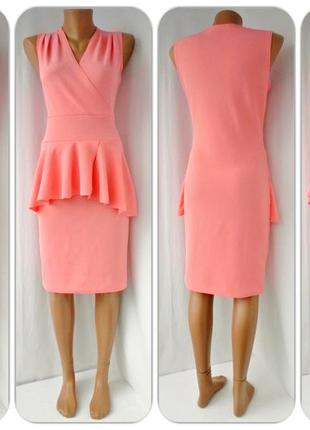 Стильное,женственное,облегающее брендовое платье miss sassy с баской. размер м.