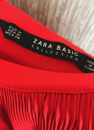 Трендовое красное платье zara3 фото