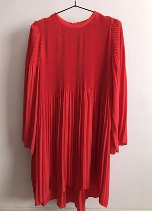 Трендовое красное платье zara2 фото