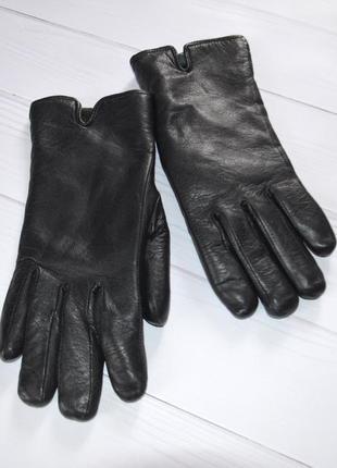 Теплые кожаные перчатки, размер м, румыния