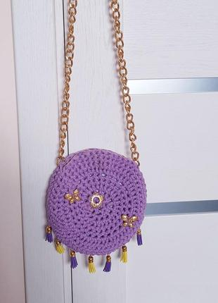 Вязаная сумка через плечо hand made