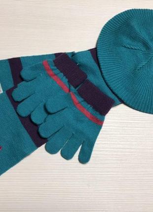 Комплект lupilu (бирет,перчатки,шарф) германия