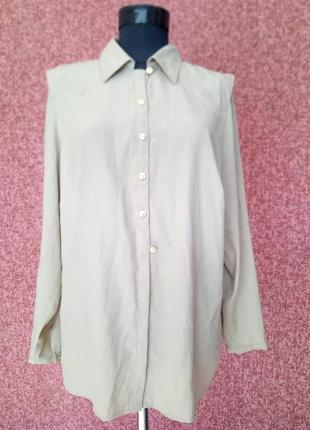 Стильная рубашка  цвета капучино